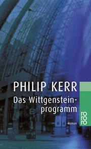 Cover of: Das Wittgenstein- Programm
