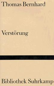 Cover of: Verstorung