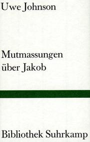 Cover of: Mutmassungen über Jakob