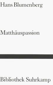 Cover of: Matthäuspassion