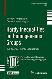 Cover of: Hardy Inequalities on Homogeneous Groups