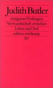 Cover of: Antigones Verlangen