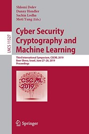 Cover of: Cyber Security Cryptography and Machine Learning