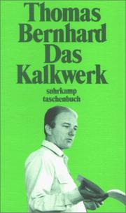 Cover of: Das Kalkwerk. Roman