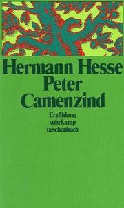Cover of: Peter Camenzind: Erzählung.