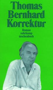 Cover of: Korrektur. Roman