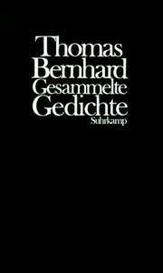 Thomas bernhard open library cover of gesammelte gedichte fandeluxe Gallery