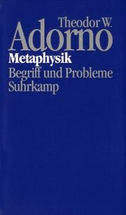 Cover of: Metaphysik: Begriff und Probleme (1965)