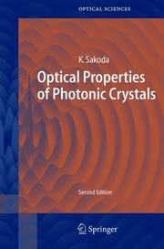 Cover of: Optical Properties of Photonic Crystals | Kazuaki Sakoda