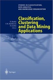 Cover of: Classification, Clustering, and Data Mining Applications |