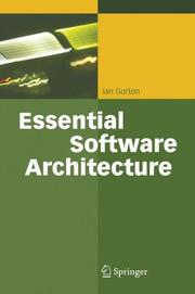 Cover of: Essential Software Architecture