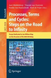 Cover of: Processes, Terms and Cycles: Steps on the Road to Infinity |