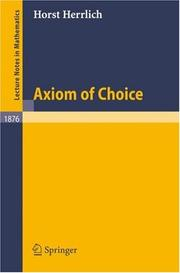 Cover of: Axiom of Choice