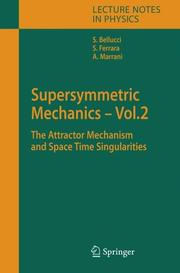 Cover of: Supersymmetric mechanics |