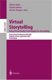 Cover of: Virtual Storytelling. Using Virtual Reality Technologies for Storytelling |