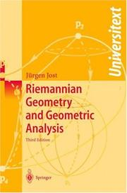 Cover of: Riemannian geometry and geometric analysis