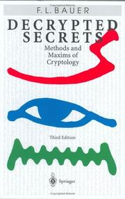 Cover of: Decrypted Secrets | Friedrich L. Bauer