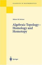 Cover of: Algebraic Topology | Robert M. Switzer