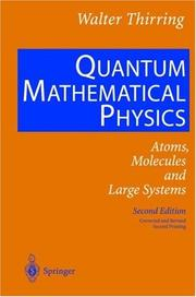 Cover of: Quantum Mathematical Physics | Walter Thirring