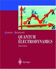Cover of: Quantenelektrodynamik