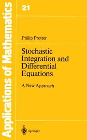 Cover of: Stochastic Integration and Differential Equations | Philip Protter