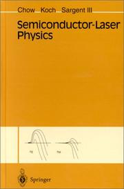 Cover of: Semiconductor-laser physics