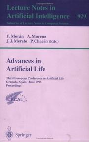 Cover of: Advances in artificial life
