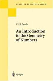 Cover of: An introduction to the geometry of numbers