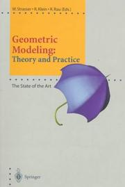 Cover of: Geometric modeling |