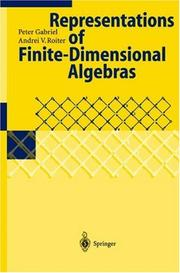 Cover of: Representations of finite-dimensional algebras