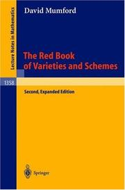 Cover of: The Red Book of Varieties and Schemes | David Mumford, E. Arbarello