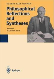 Cover of: Philosophical reflections and syntheses