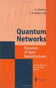 Cover of: Quantum networks