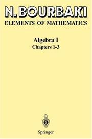 Elements of Mathematics: Algebra I Chapters 1-3
