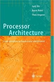Cover of: Processor Architecture | Jurij Silc