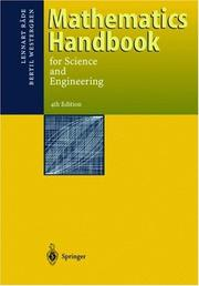 Cover of: Mathematics handbook for science and engineering