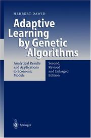 Cover of: Adaptive Learning by Genetic Algorithms | Herbert Dawid