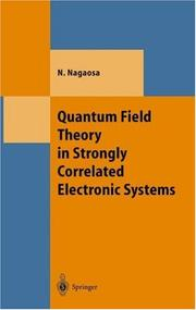 Cover of: Quantum field theory in strongly correlated electronic systems