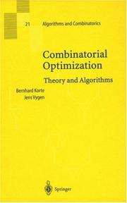 Cover of: Combinatorial Optimization | B. H. Korte