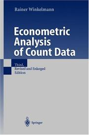 Cover of: Econometric Analysis of Count Data | Rainer Winkelmann