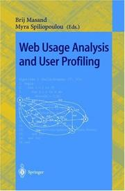 Web usage analysis and user profiling by International WEBKDD '99 Workshop (1999 San Diego, Calif.)