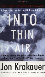 Cover of: Into Thin Air |