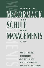 Cover of: Die Schule des Managements