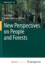 Cover of: New Perspectives on People and Forests | Eva Ritter, Dainis Dauksta