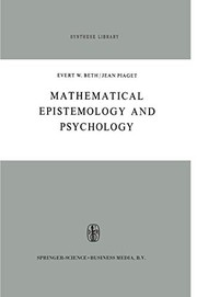 Cover of: Mathematical Epistemology and Psychology | E.W. Beth