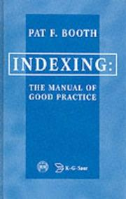 Cover of: Indexing the Manual of Good Practice