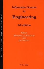 Cover of: Information Sources In Engineering (Guides to Information Sources) (Guides to Information Sources) |