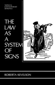 Cover of: The law as a system of signs