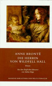 Cover of: Die Herrin von Wildfell Hall