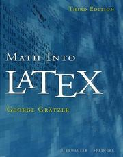 Cover of: Math into LaTeX: an introduction to LaTeX and AMS-LaTex